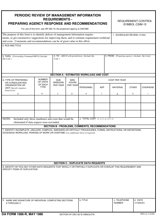 Download da Form 1086-R Free