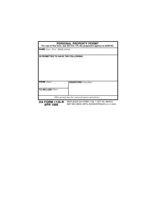 Download da Form 1135-R Free