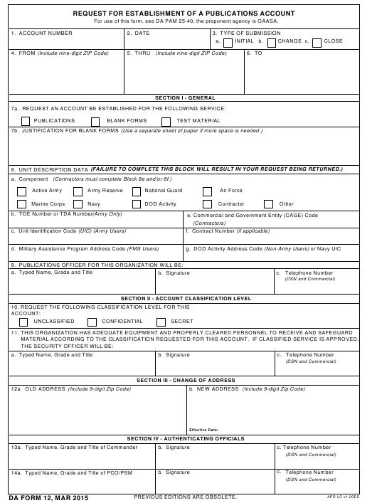 Download da Form 12 Free