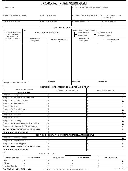 Download da Form 1323 Free
