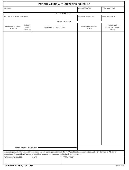 Download da Form 1323-1 Free