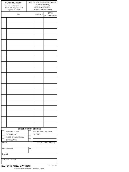 Download da Form 1222 Free