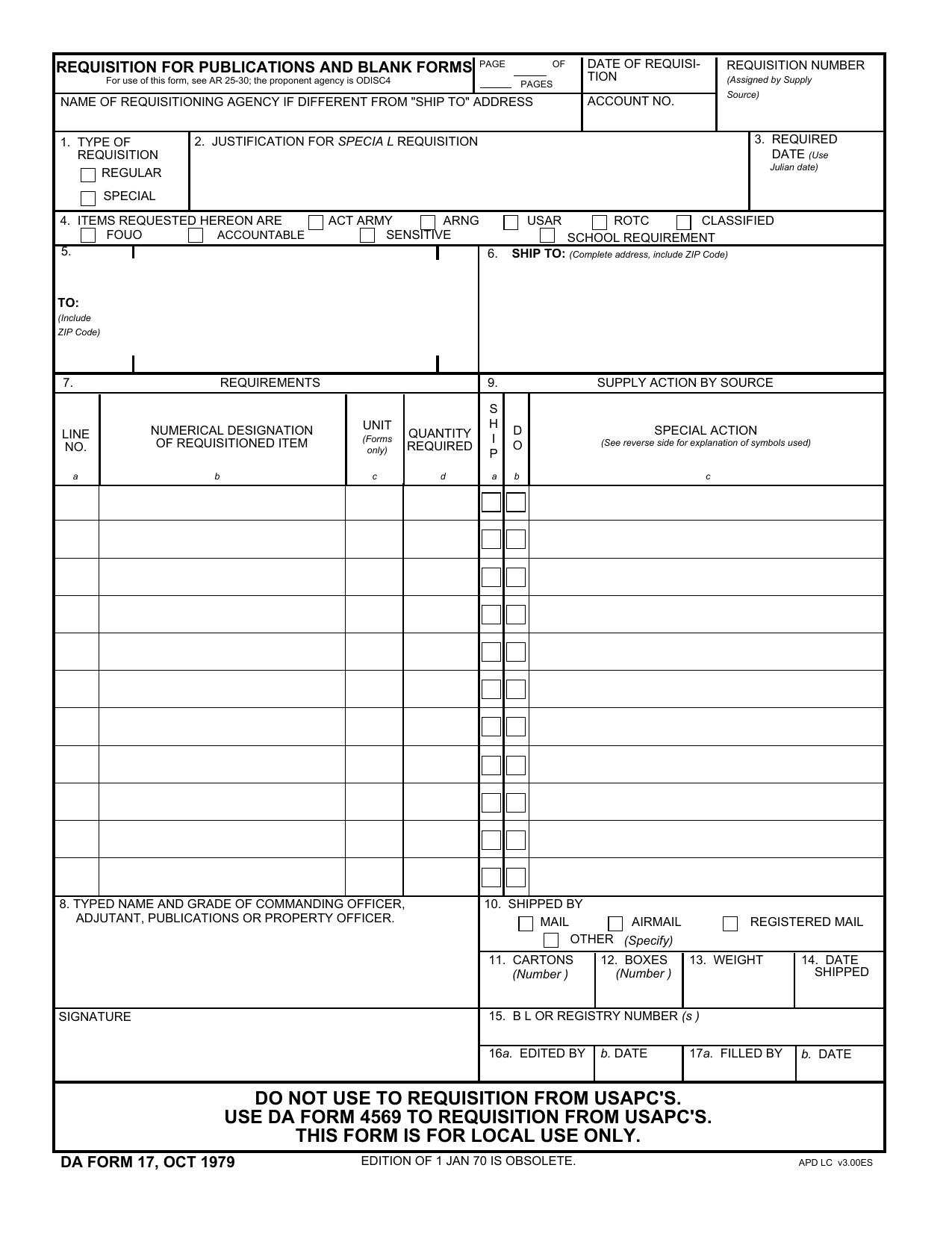 Download da Form 17 Free