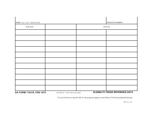 Download da Form 1703-R Free