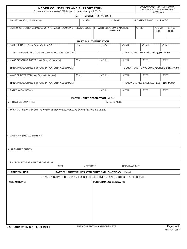 Download da Form 2166-8-1 Free