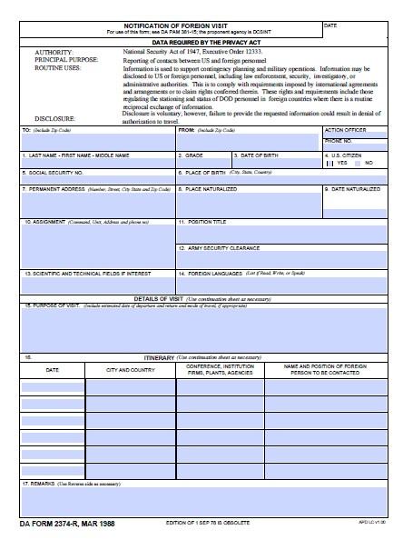 Download da Form 2374-R Free