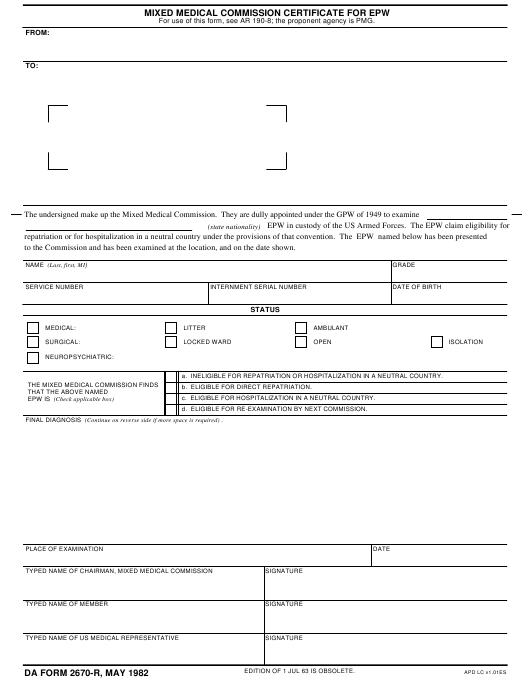 Download da Form 2670-R Free