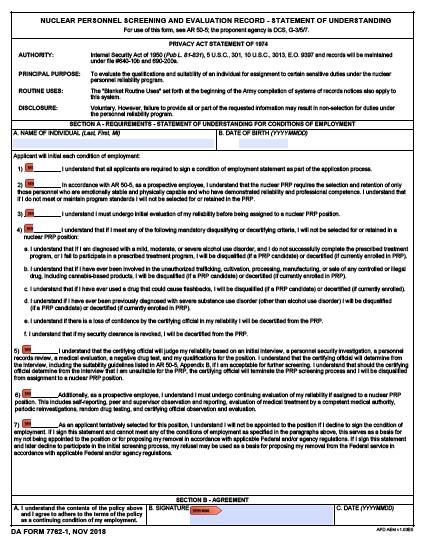 Download da Form 7762-1 Free