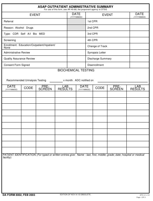 Download da Form 8002 Free