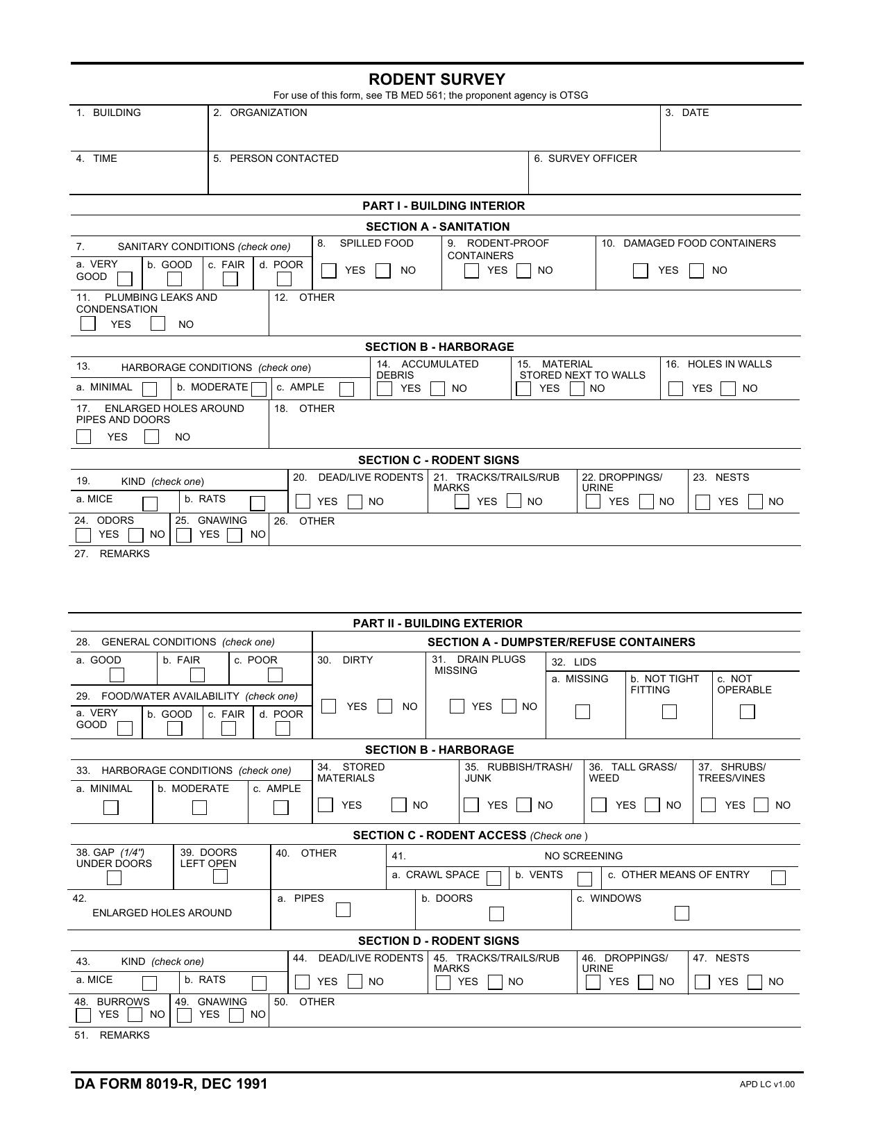 Download da Form 8019-R Free