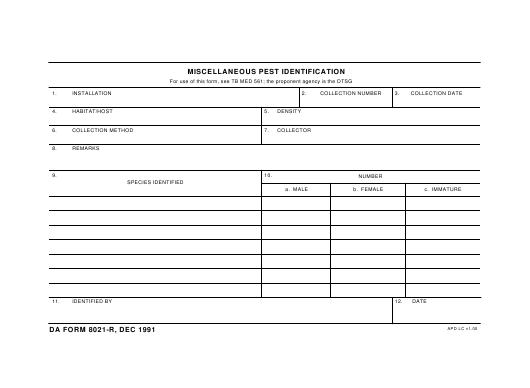 Download da Form 8021-R Free