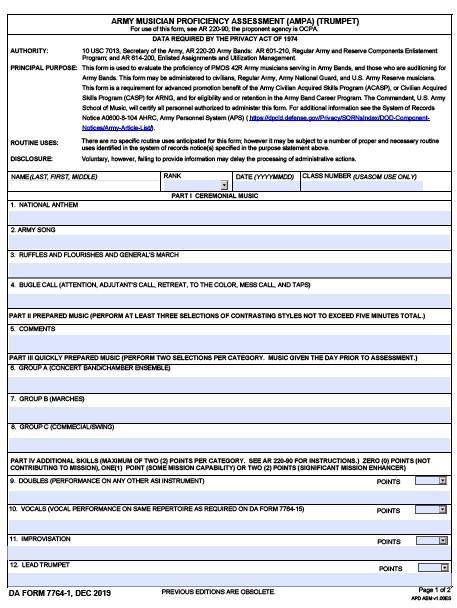 Download da Form 7764-1 Free