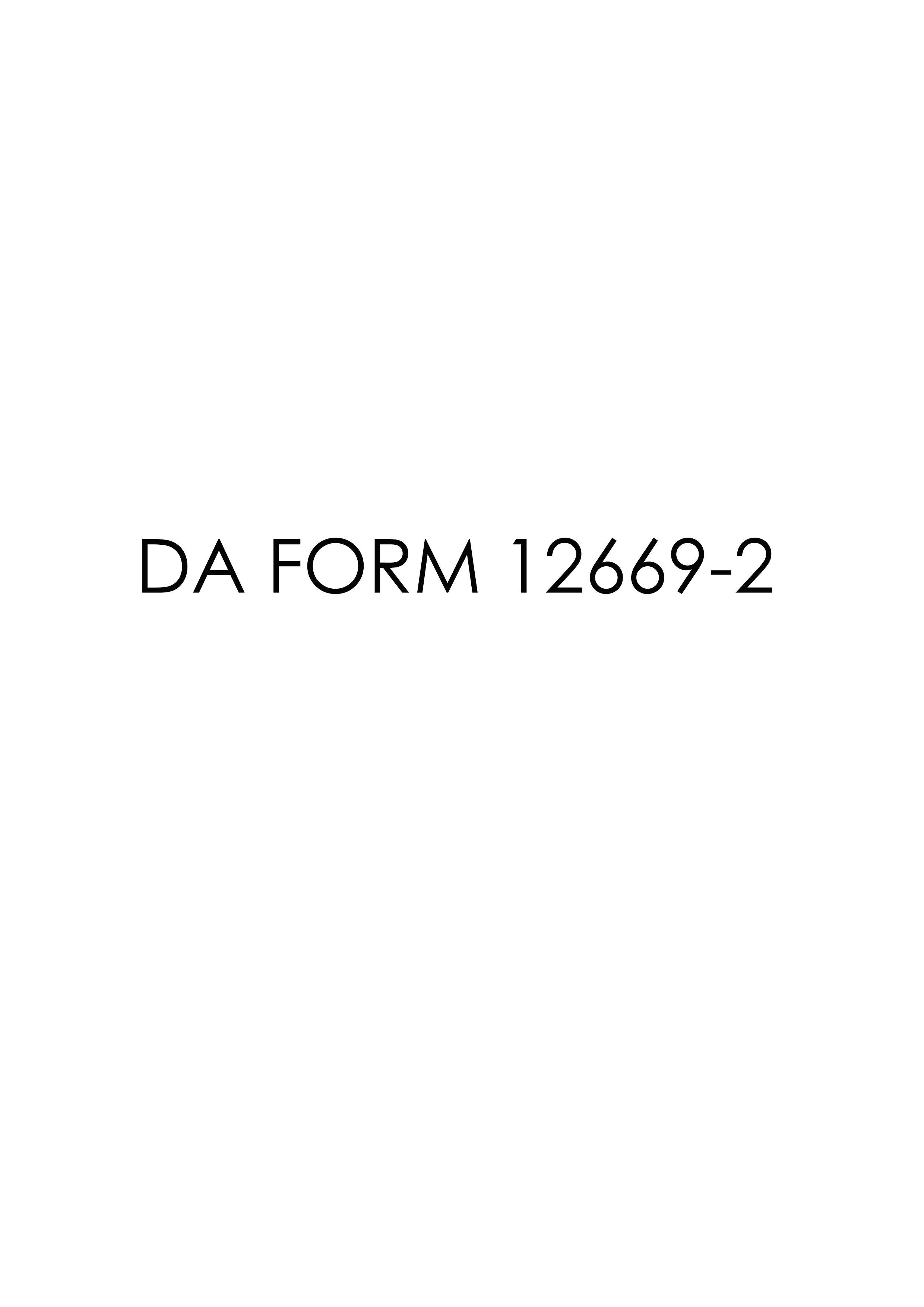 Download da Form 12669-2 Free