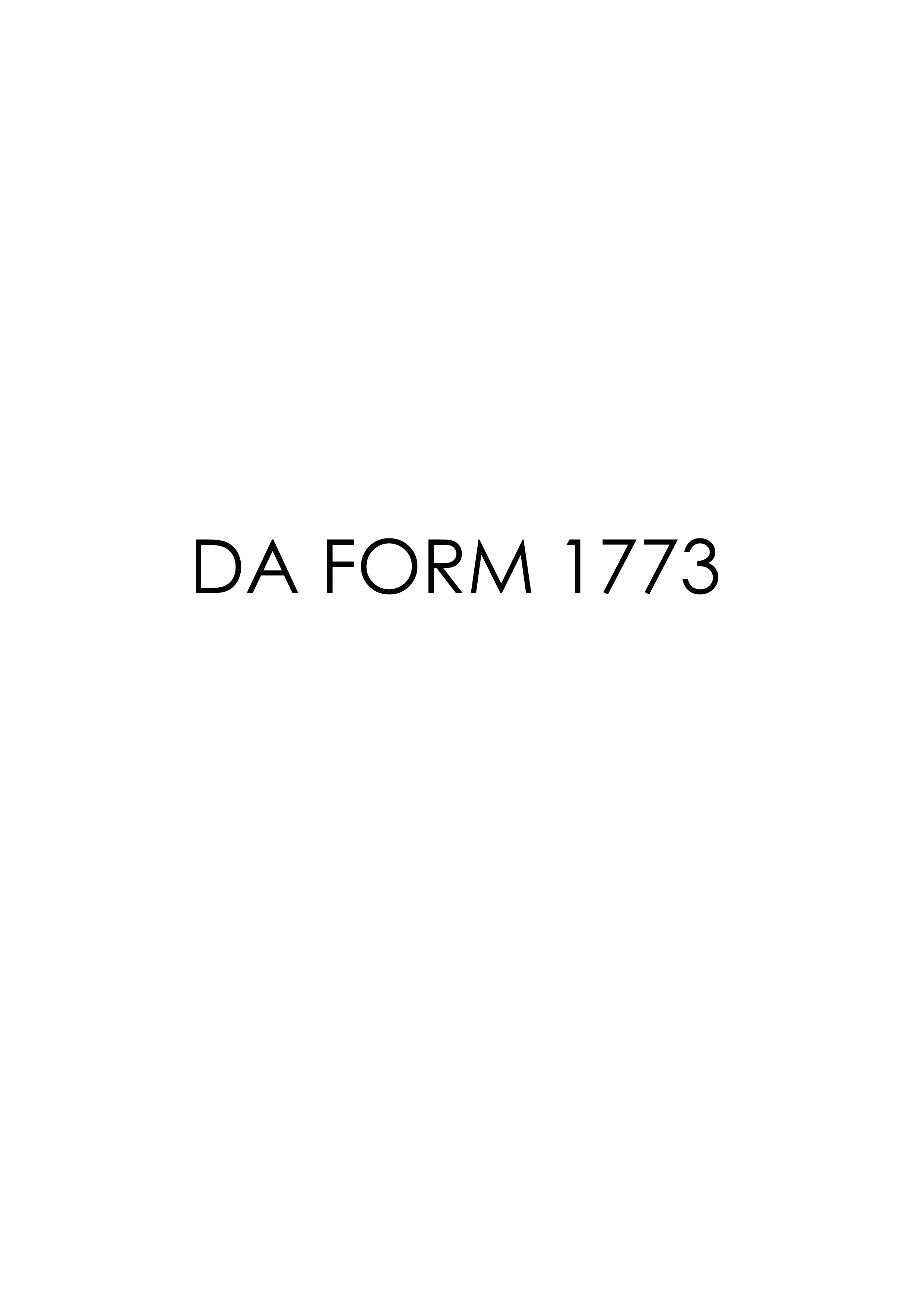 Download da Form 1773 Free