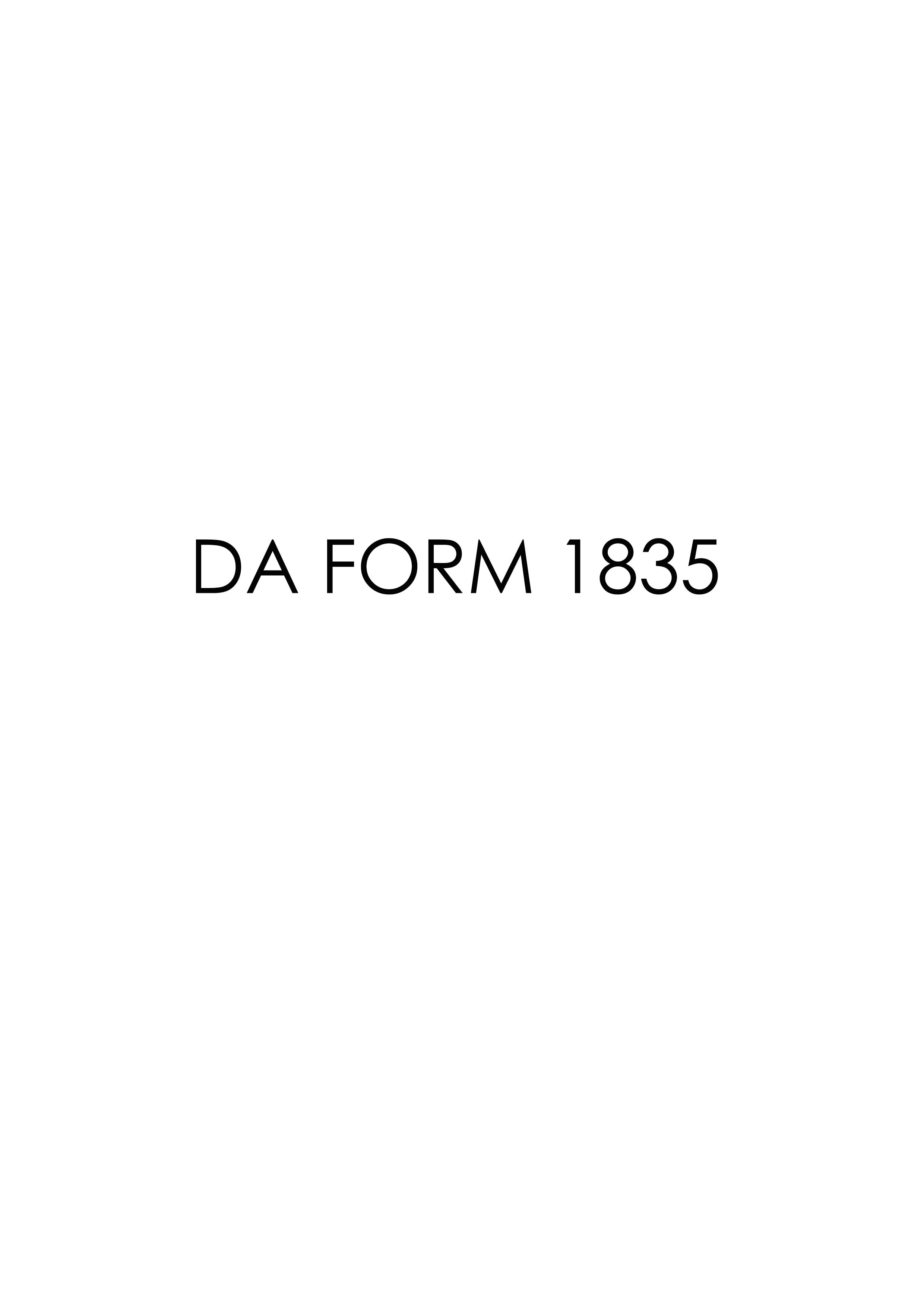 Download da Form 1835 Free