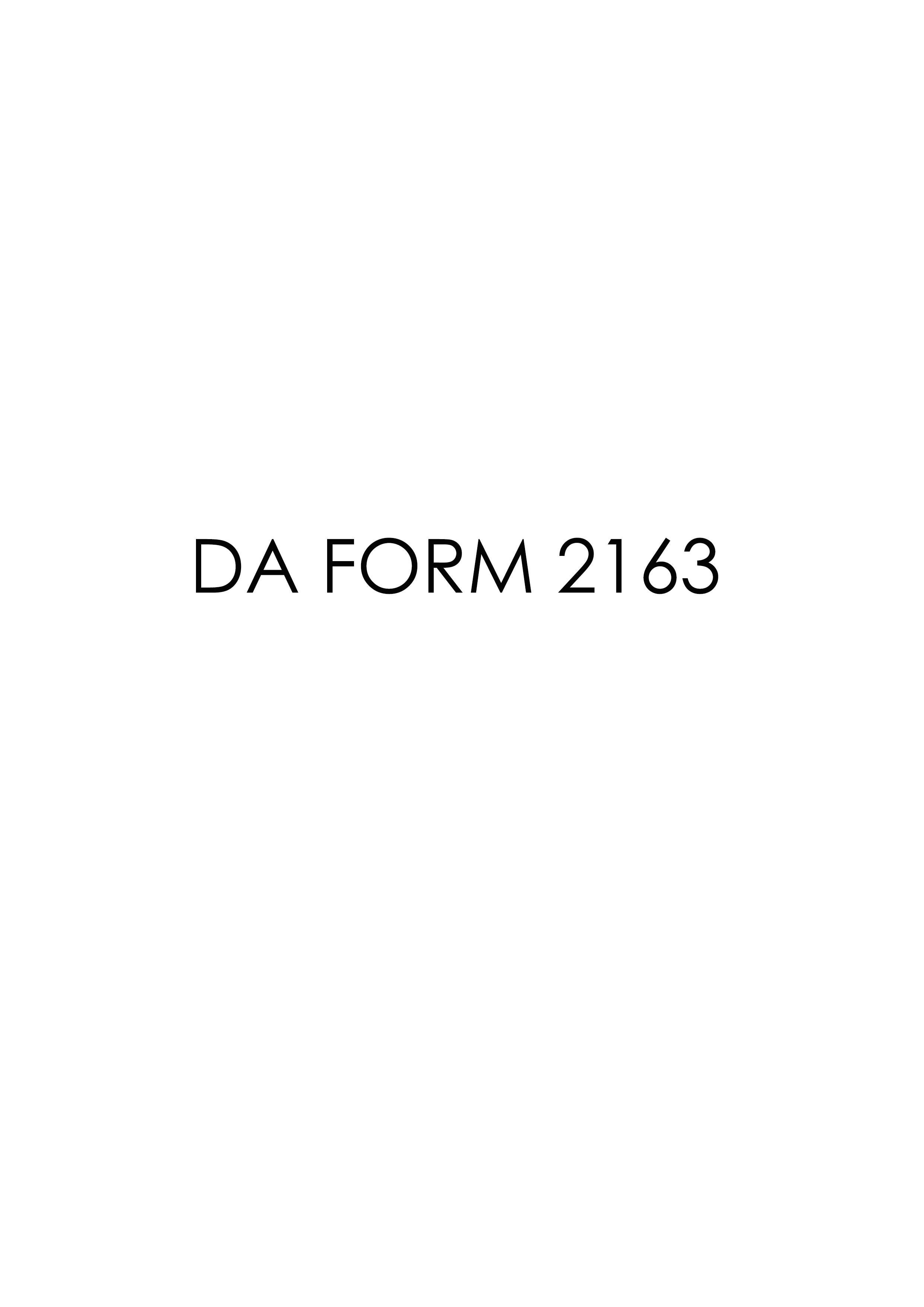 Download da Form 2163 Free