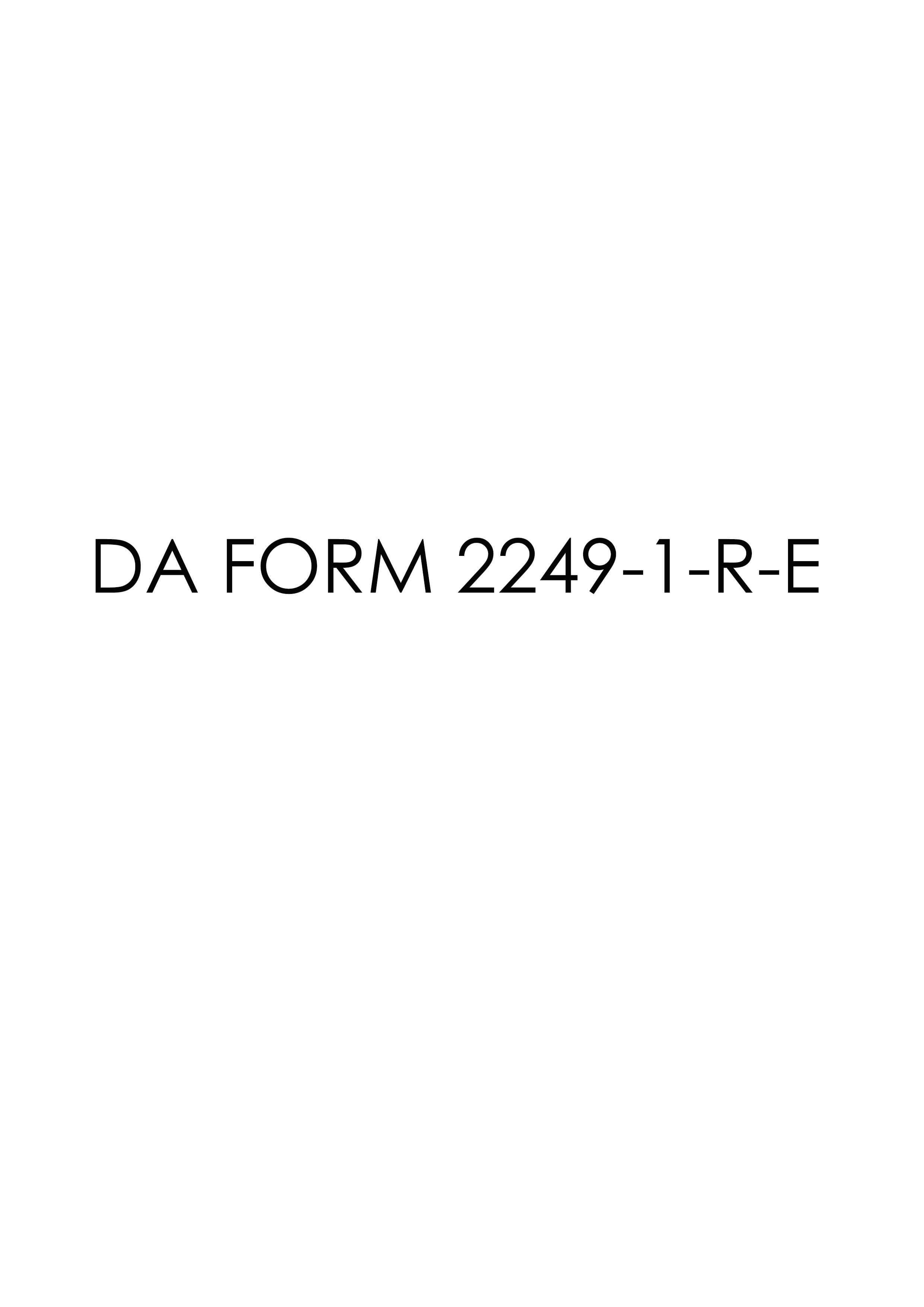 Download da Form 2249-1-R-E Free