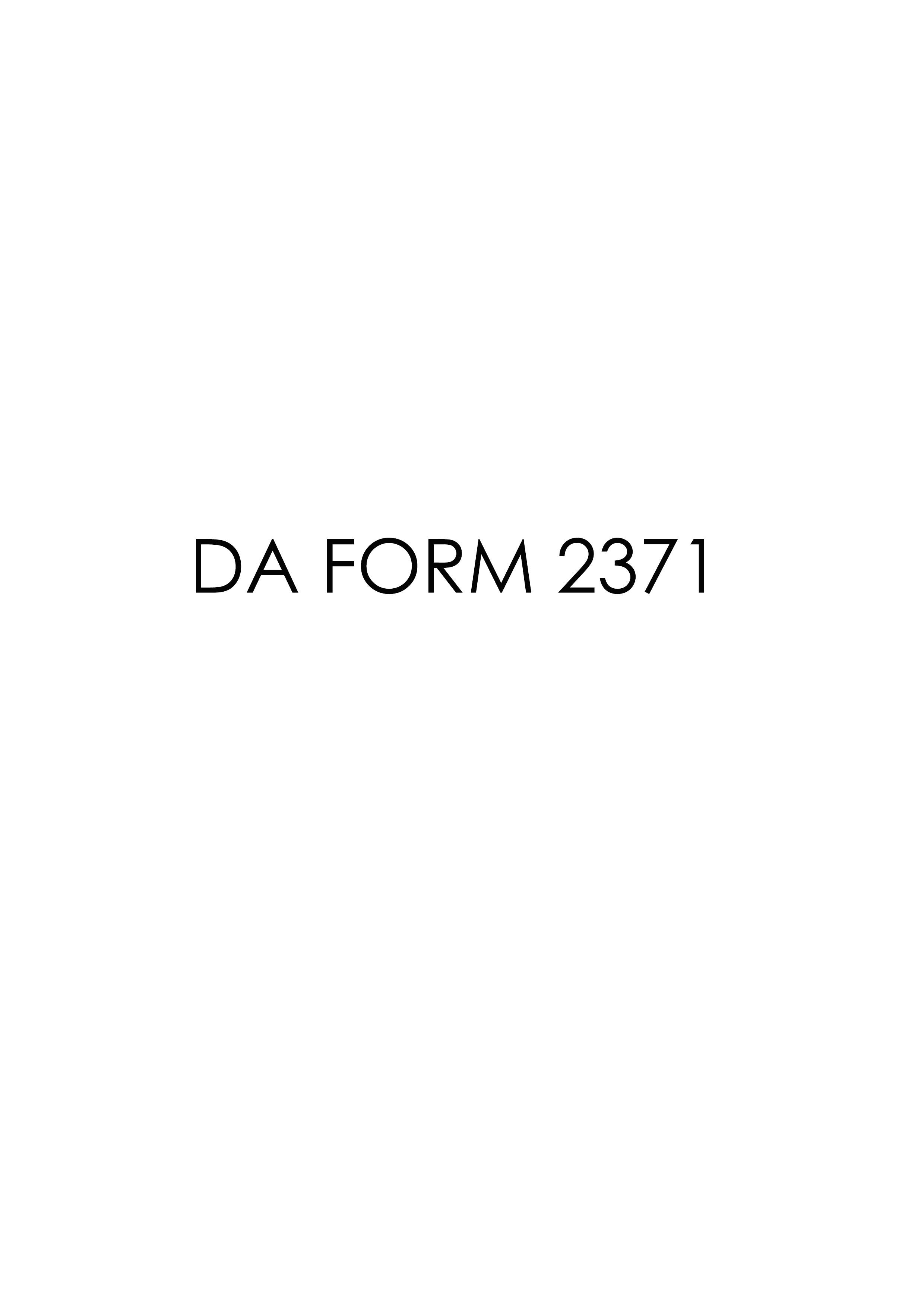 Download da Form 2371 Free