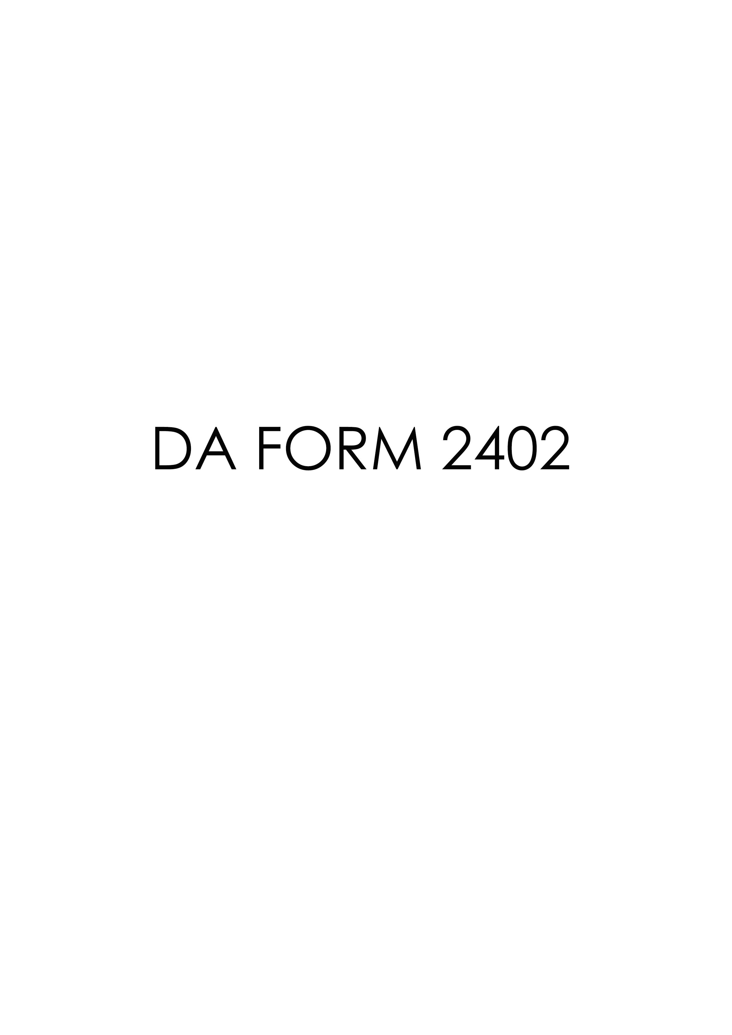 Download da Form 2402 Free