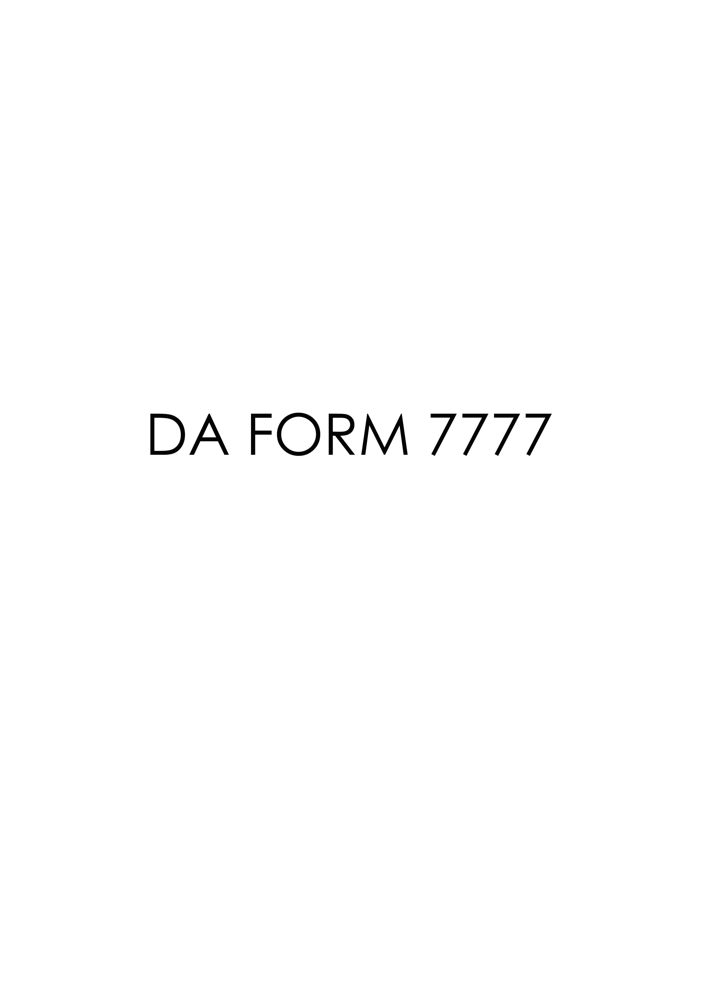 Download da Form 7777 Free