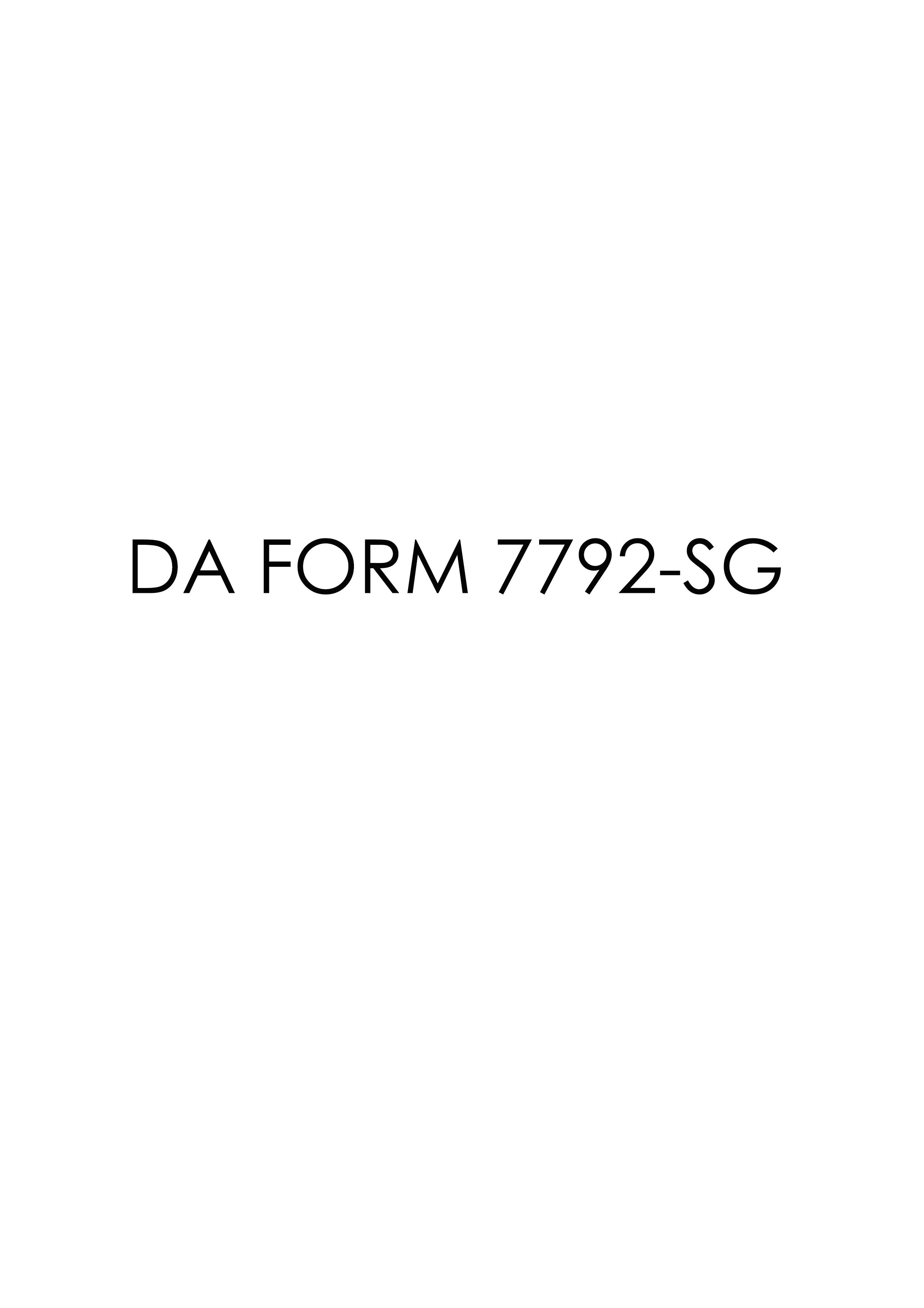 Download da Form 7792-SG Free