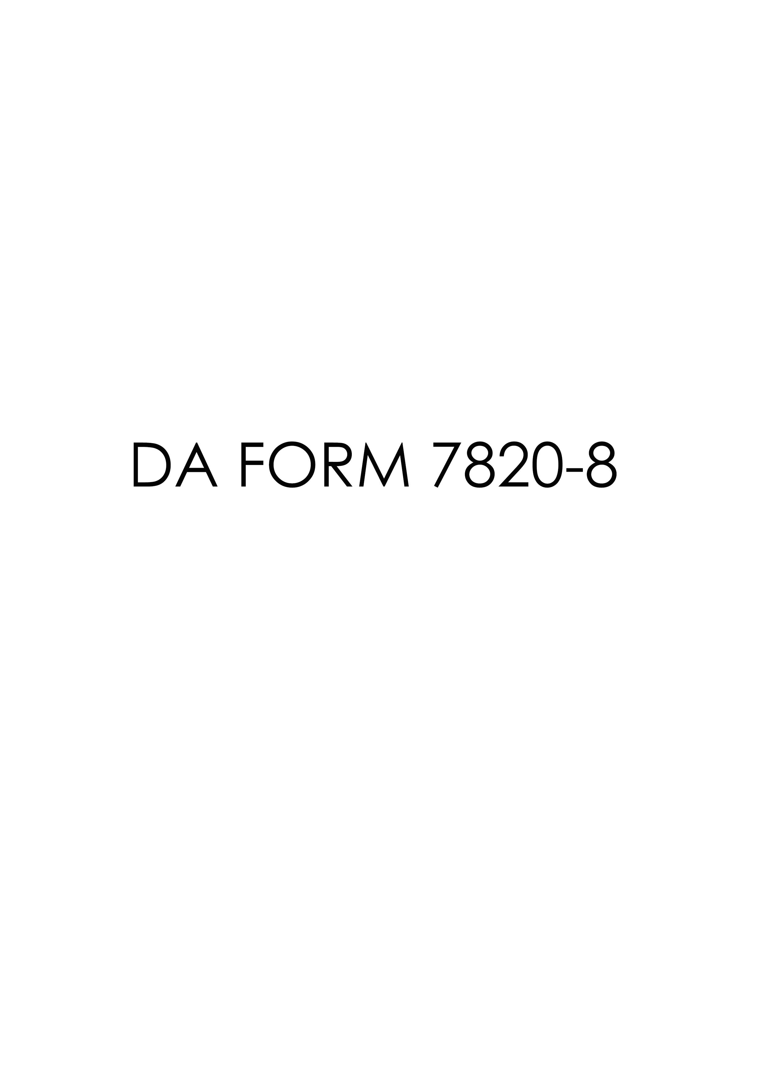 Download da Form 7820-8 Free