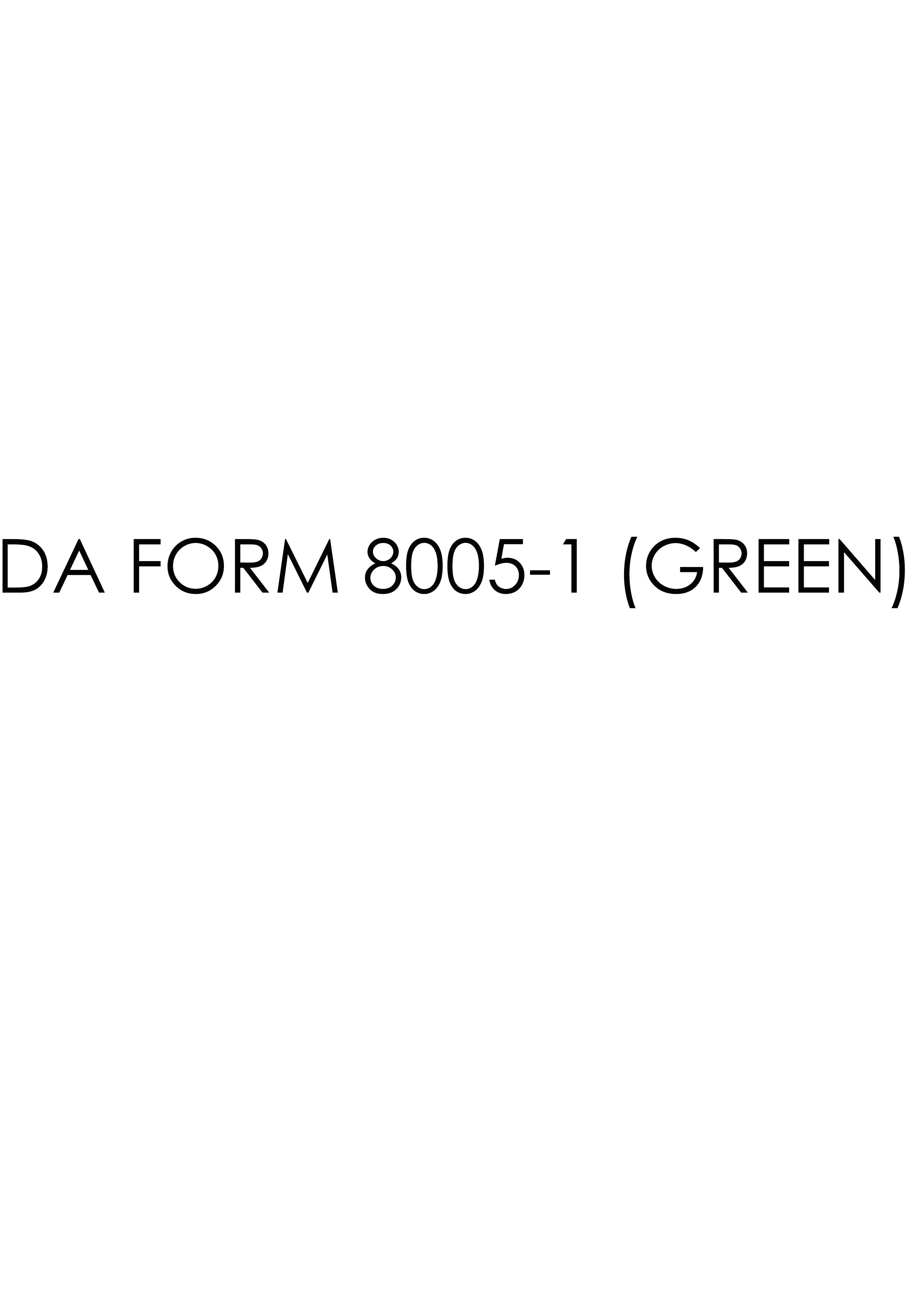 Download da Form 8005-1 (GREEN) Free