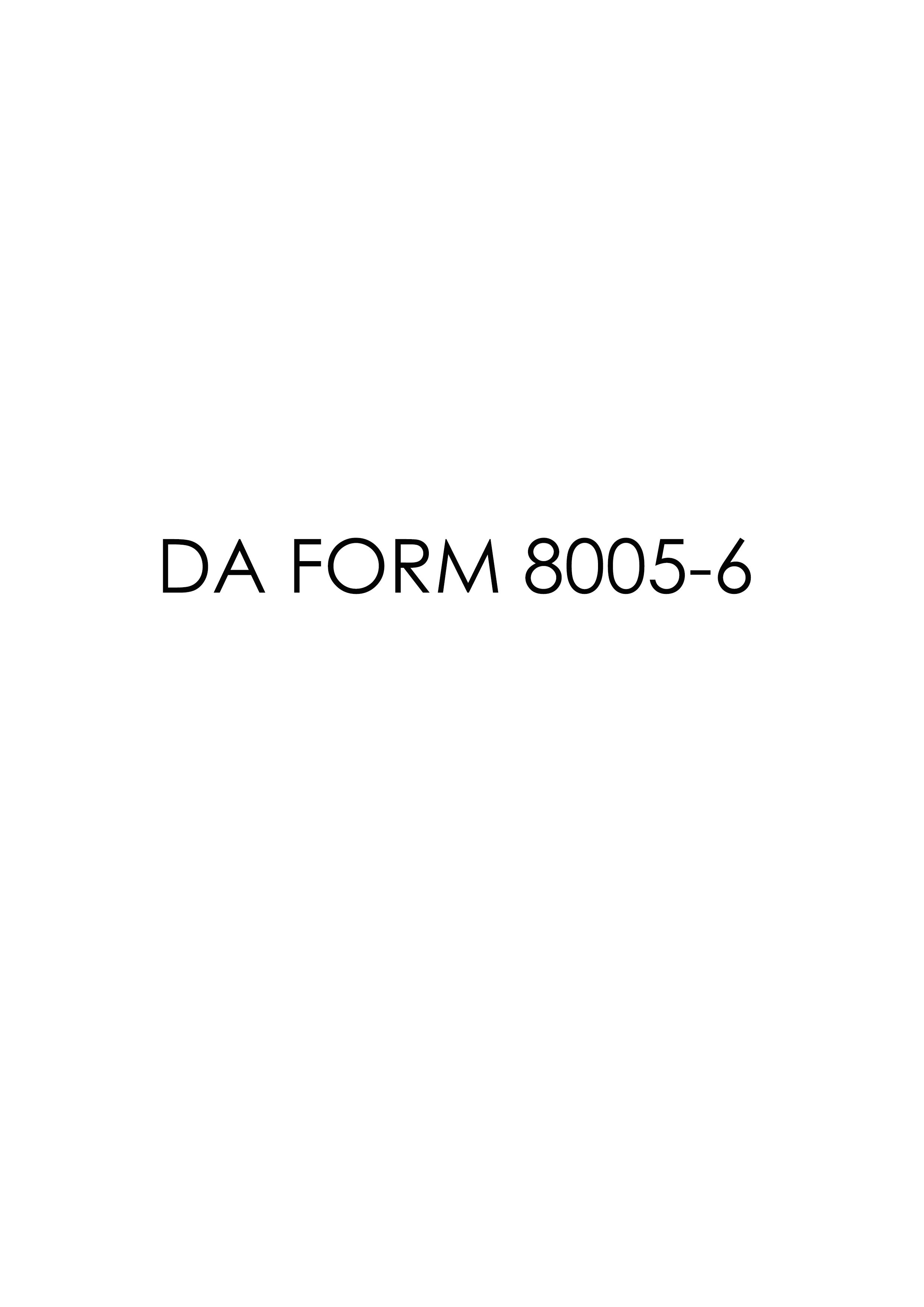 Download da Form 8005-6 Free