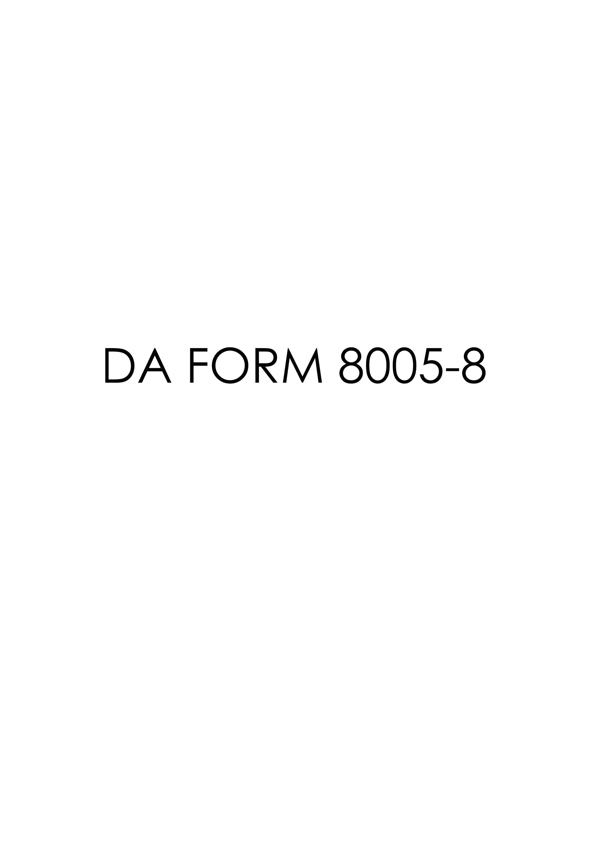 Download da Form 8005-8 Free