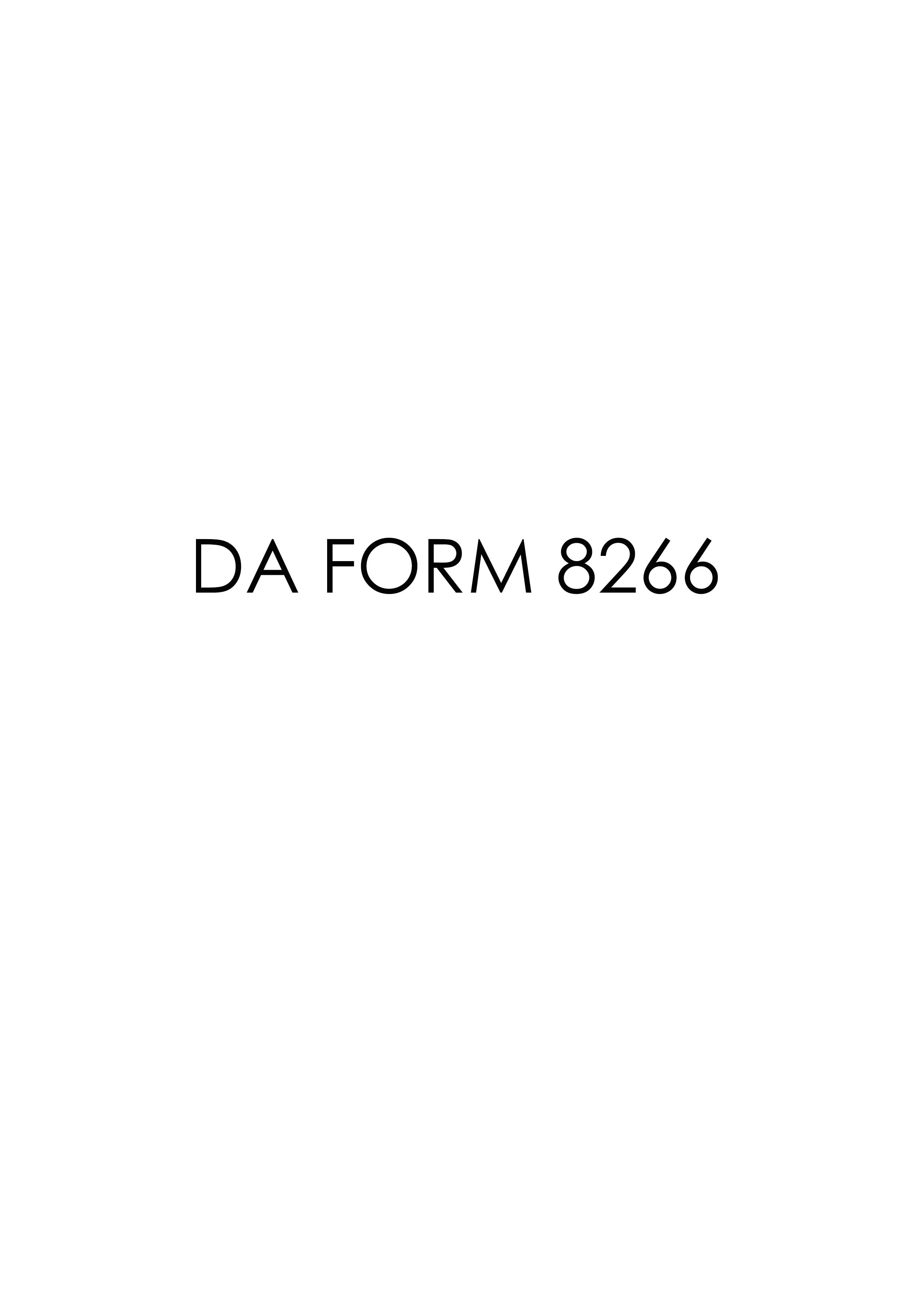 Download da Form 8266 Free