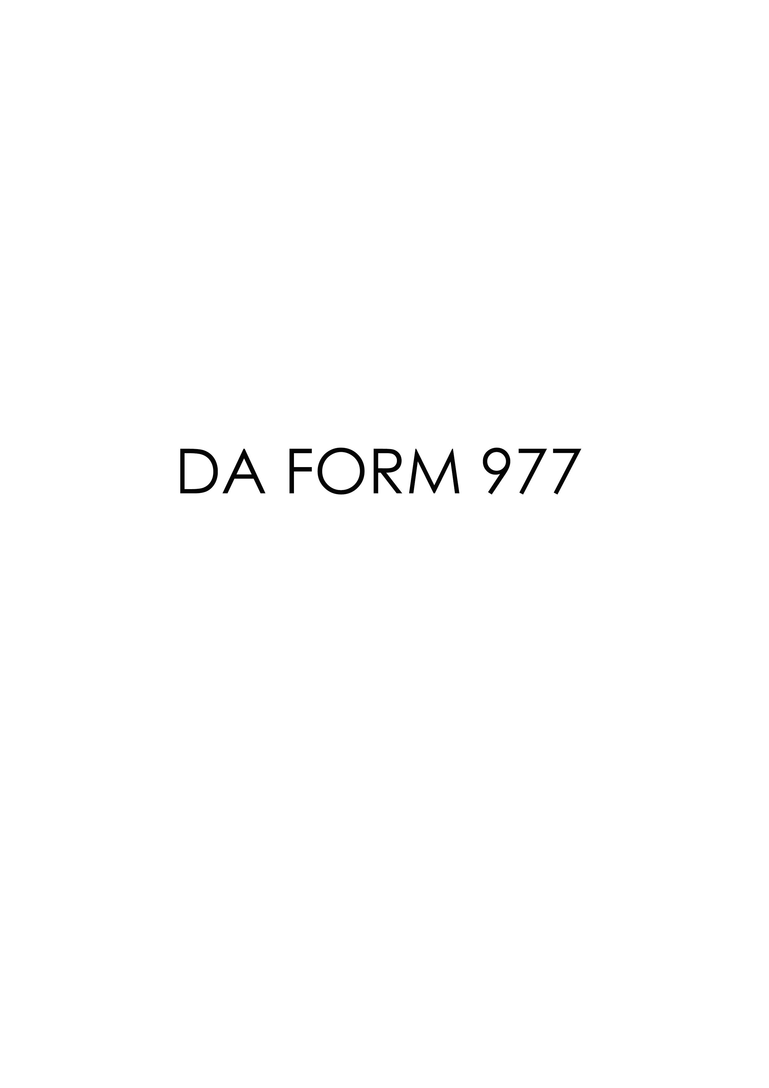Download da Form 977 Free