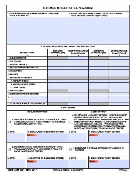 Download dd Form 1081 Free