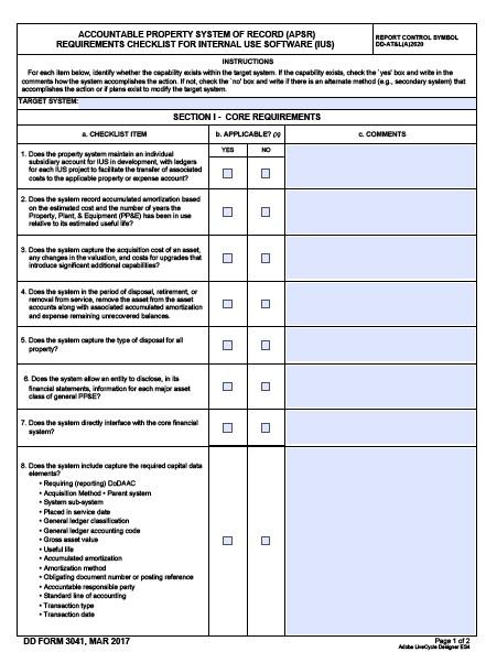 Download dd Form 3041 Free