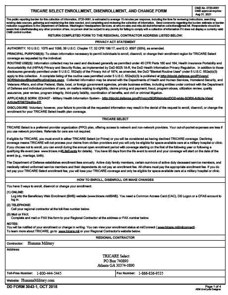 Download dd Form 3043-1 Free