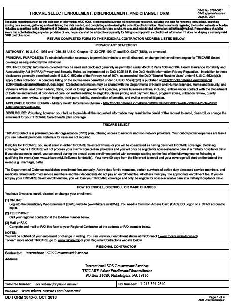 Download dd Form 3043-3 Free
