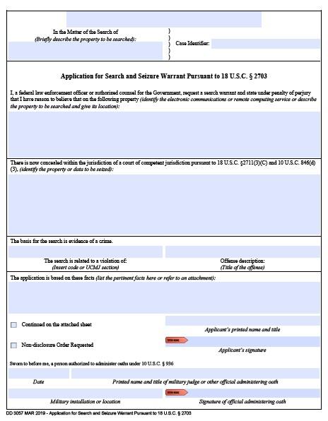 Download dd Form 3057 Free