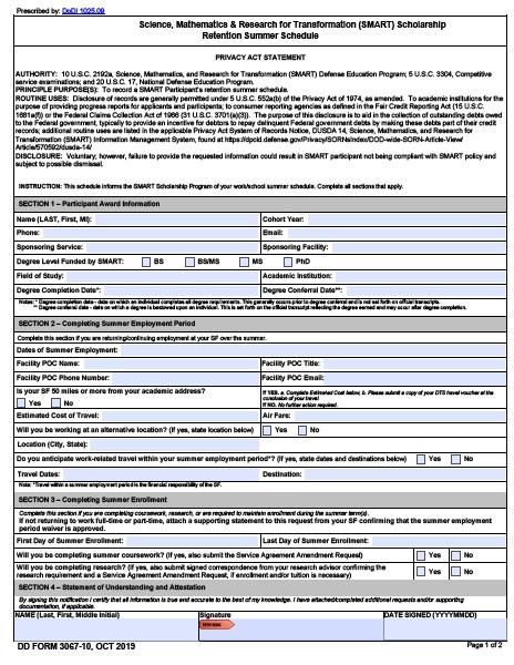 Download dd Form 3067-10 Free