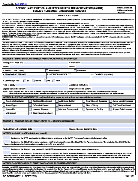 Download dd Form 3067-11 Free