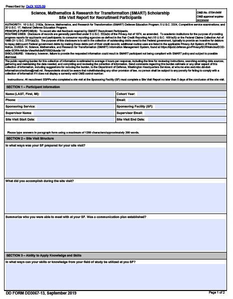 Download dd Form 3067-13 Free