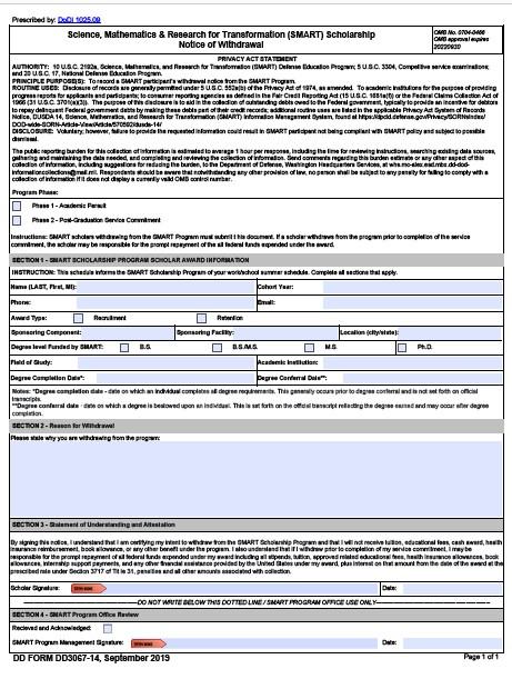 Download dd Form 3067-14 Free