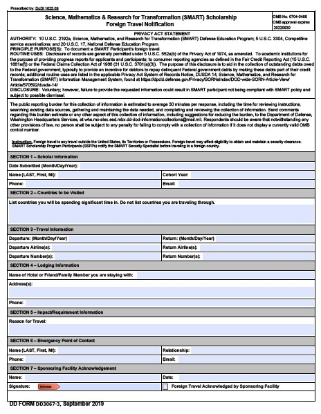 Download dd Form 3067-3 Free