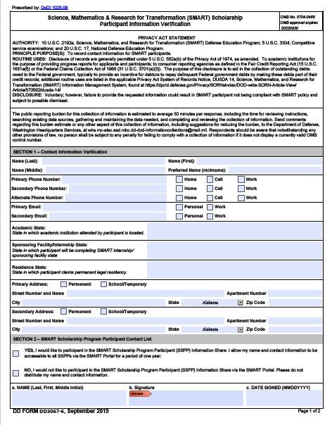 Download dd Form 3067-6 Free