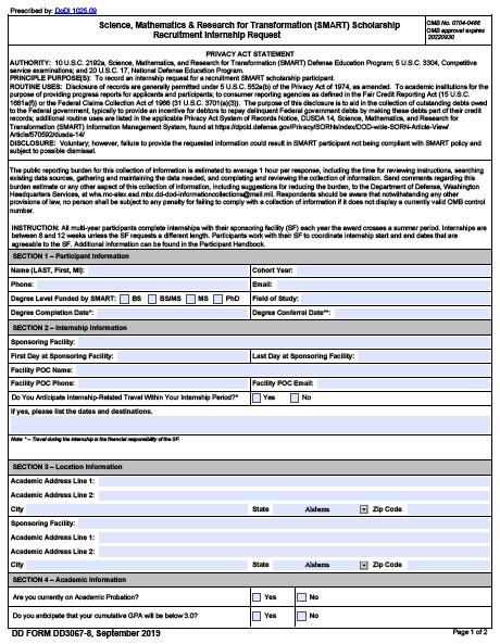 Download dd Form 3067-8 Free