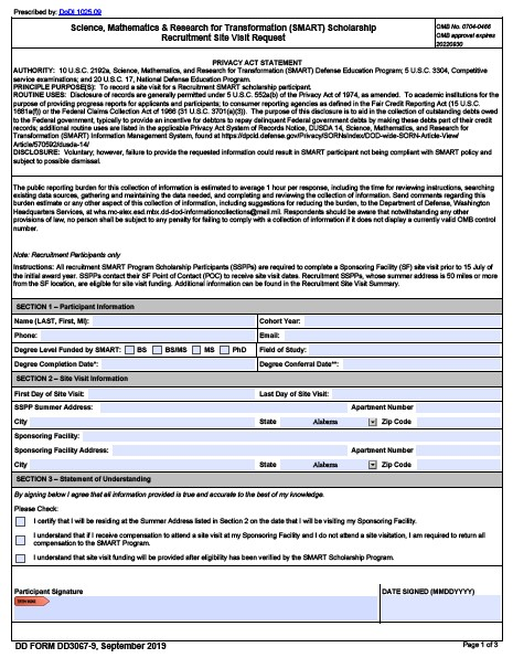 Download dd Form 3067-9 Free