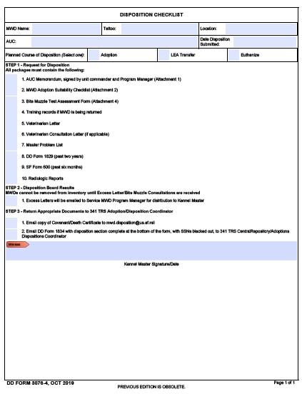 Download dd Form 3076-4 Free