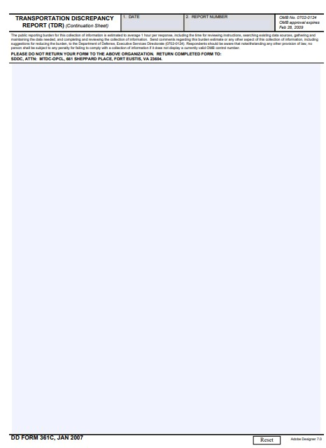 Download dd Form 361C Free