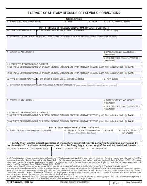 Download dd Form 493 Free