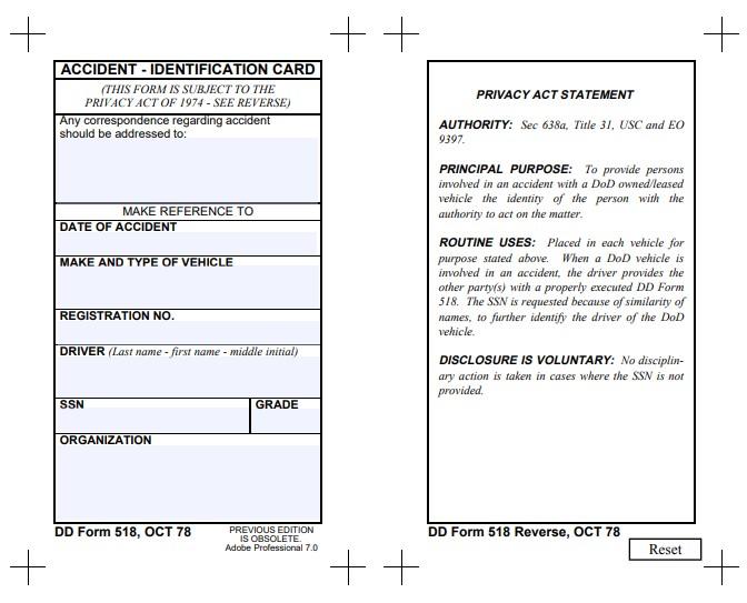 Download dd Form 518 Free