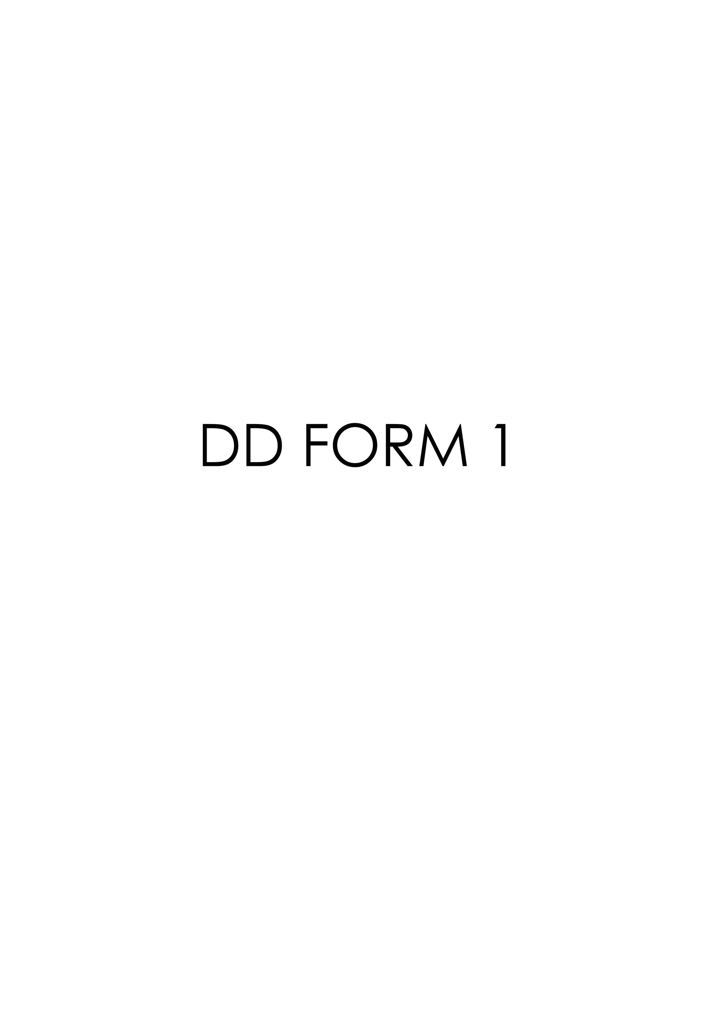 Download dd Form 1 Free