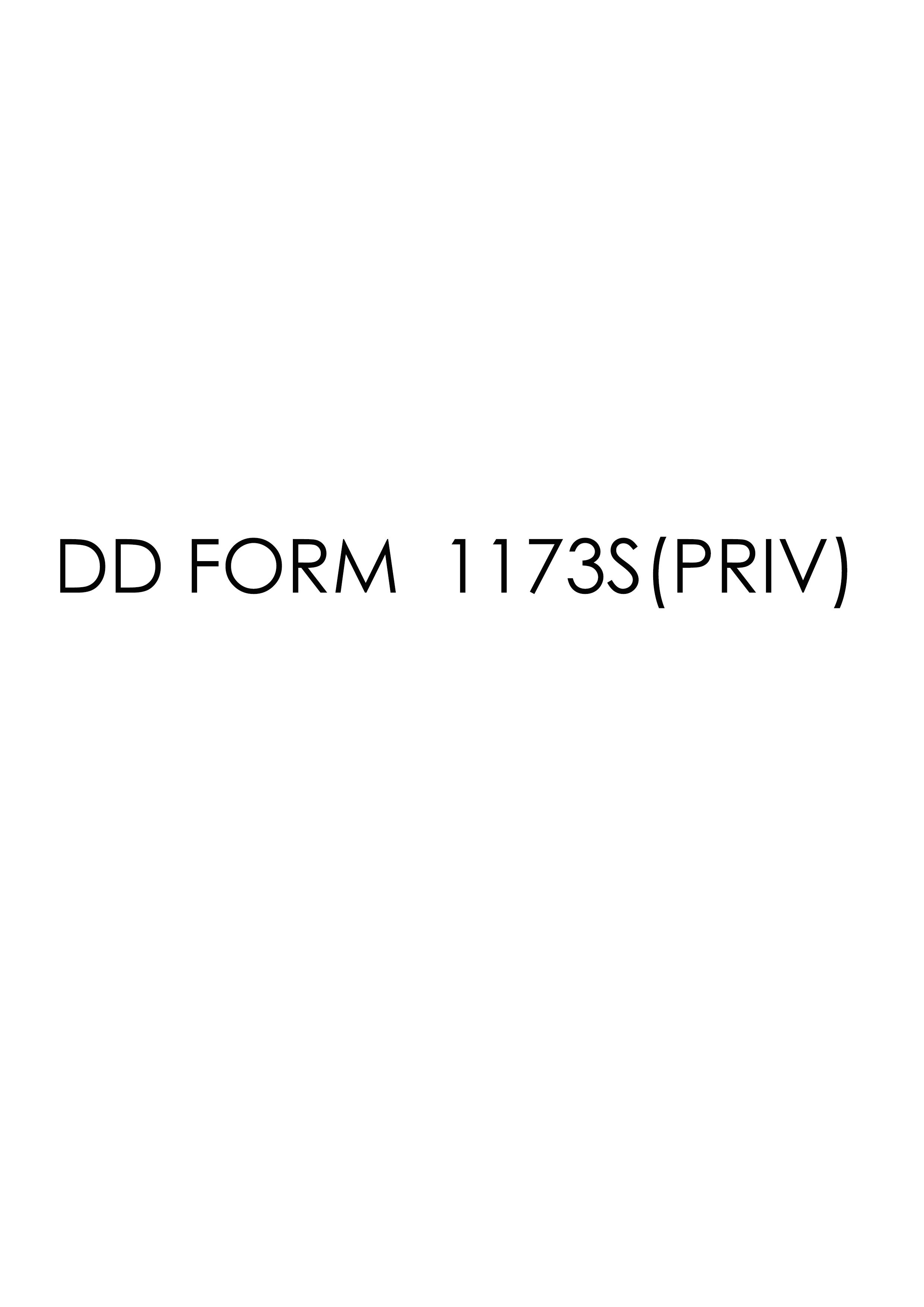 Download dd Form 1173S(PRIV) Free